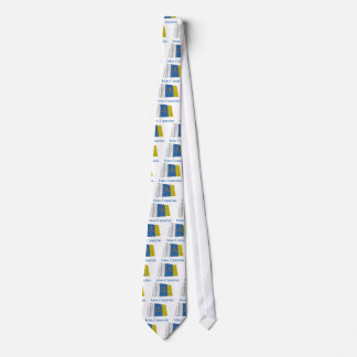 Canary Islands Waving Flag with Name in Spanish Tie