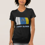 Canary Islands Waving Flag with Name T Shirts