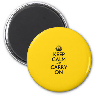 Canary Keep Calm And Carry On Fridge Magnets