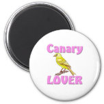 Canary Lover 2 Inch Round Magnet