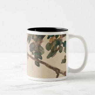 Canary on an Oak Tree Branch Coffee Mug
