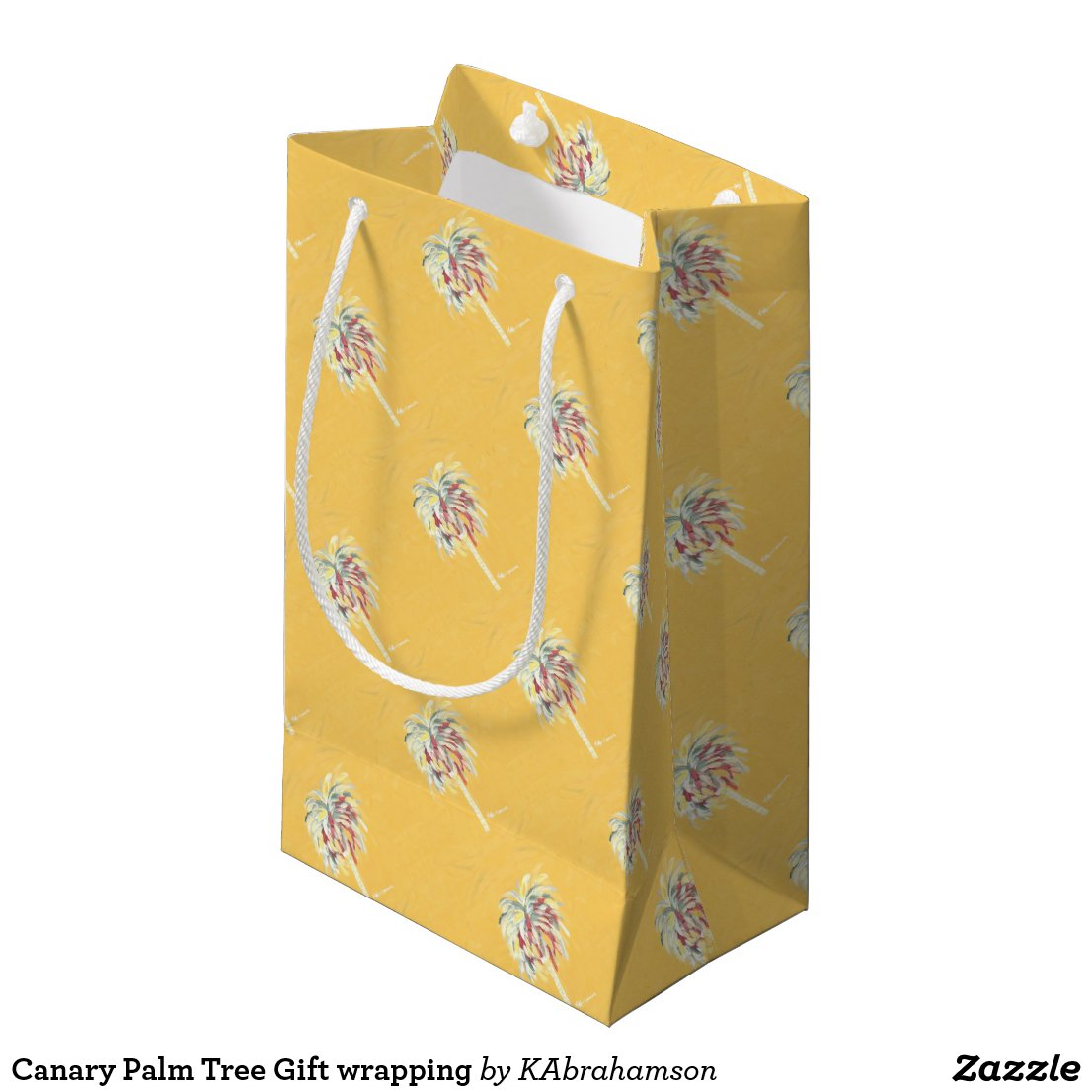 Canary Palm Tree Gift wrapping Small Gift Bag