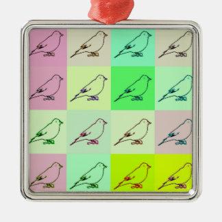 Canary Pop Art Metal Ornament