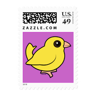 Canary Postage Stamps