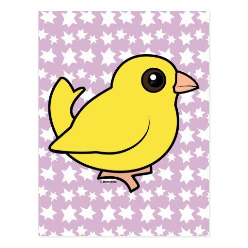 Canary Postcard