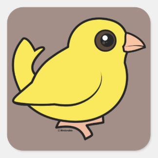 Canary Square Sticker