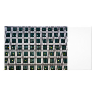 Canary Wharf Abstract Customised Photo Card