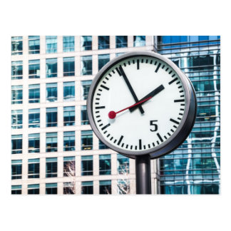 Canary Wharf clock Post Card
