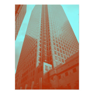 Canary Wharf (in red and blue) Photo Print