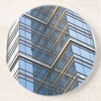 Canary Wharf London Abstract Beverage Coasters