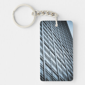 Canary Wharf London Abstract Keychain