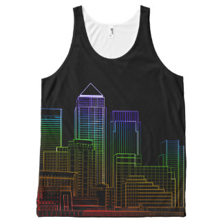 Canary Wharf - London All-Over Print Tank Top