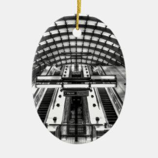 canary wharf tube station ceramic ornament