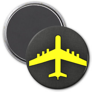 Canary Yellow Airplane Refrigerator Magnets
