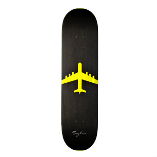 Canary Yellow Airplane Skateboard Deck