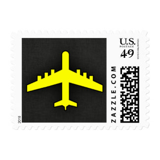 Canary Yellow Airplane Stamp