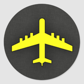 Canary Yellow Airplane Sticker