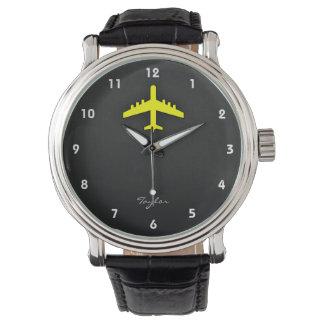 Canary Yellow Airplane Wristwatch