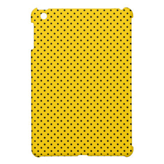 Canary Yellow And Small Black Polka Dots Pattern Cover For The iPad Mini