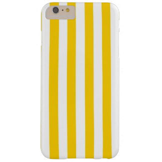 Canary Yellow And White Vertical Large Stripes Barely There iPhone 6 Plus Case
