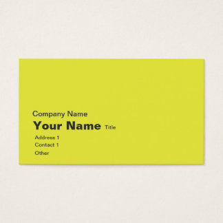 canary yellow atlas diagram business card