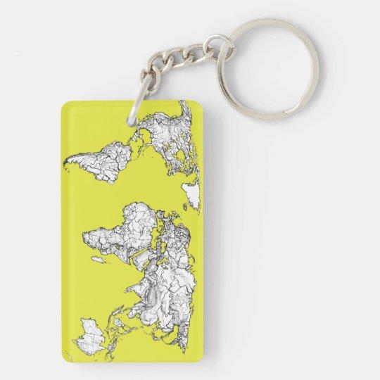 canary yellow atlas diagram keychain