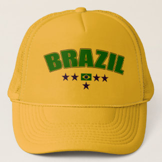 Canary Yellow Brazil 5 Star Logo Cap