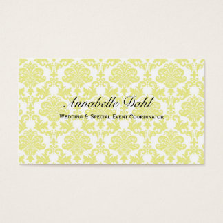 Canary Yellow Business Card