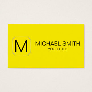 Canary yellow color background business card