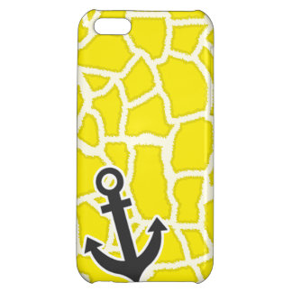 Canary Yellow Giraffe Animal Print; Anchor iPhone 5C Cover