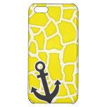 Canary Yellow Giraffe Animal Print; Anchor iPhone 5C Cases