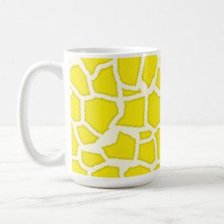 Canary Yellow Giraffe Animal Print Classic White Coffee Mug