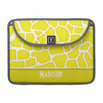 Canary Yellow Giraffe Animal Print Sleeve For MacBooks