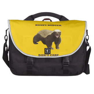 Canary Yellow Honey Badger Don't Care Pattern Laptop Commuter Bag
