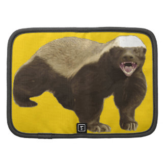 Canary Yellow Honey Badger Don't Care Pattern Planner