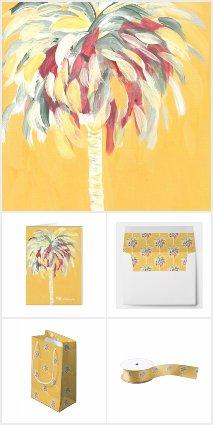 Canary Yellow Palm Tree
