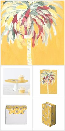 Canary Yellow Palm Tree