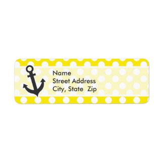 Canary Yellow Polka Dots; Anchor Labels