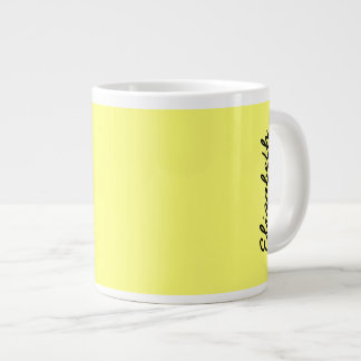 Canary Yellow Solid Color Large Coffee Mug