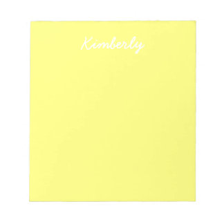 Canary Yellow Solid Color Notepad