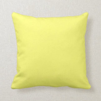 Canary Yellow Solid Color Throw Pillows