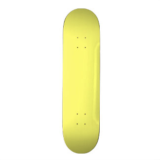Canary Yellow Solid Color Skate Board