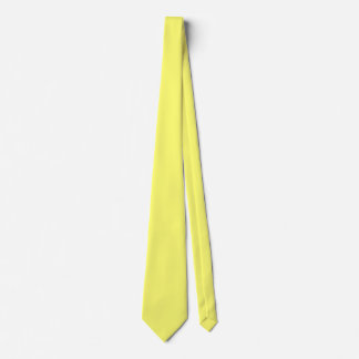 Canary Yellow Solid Color Tie