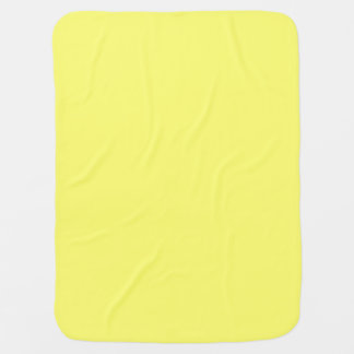 Canary Yellow Solid Color Stroller Blanket