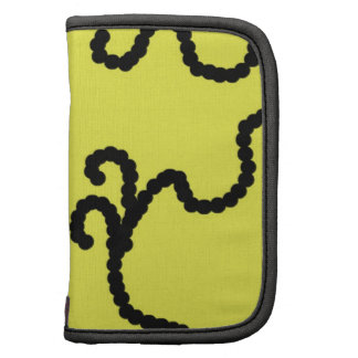 Canary Yellow with Black Bead Design Folio Planner