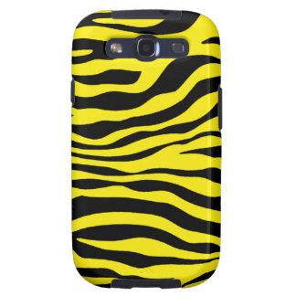Canary Yellow Zebra Animal Print Samsung Galaxy S3 Case
