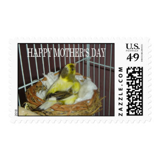 Canary's Mother's day greeting Stamp