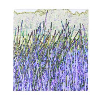 Cañas abstractas en colores púrpuras y blancos bloc