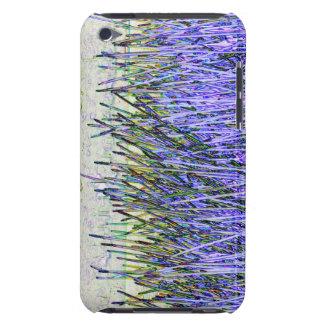 Cañas abstractas en colores púrpuras y blancos barely there iPod protectores