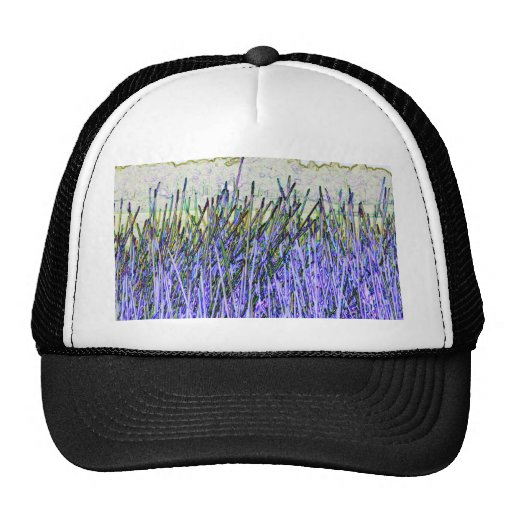 Cañas abstractas en colores púrpuras y blancos gorras